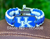 Wholesale Fashion ncaa paracord survival bracelet clasp KENTUCKY WILDCATS R