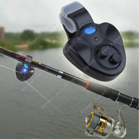 fishing bite alarm - New Outdoor LED Clip Light Fishing Rod Electronic Bite Alarm Fish Ringer Battery SV004955