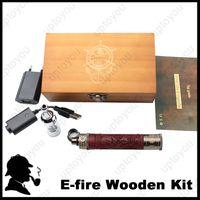 Cheap Mechanical ecig mod huge vapor atomizer e fire wooden mod electronic smoking vapor cigarette e fire wooden mod wood e-cigs e fire