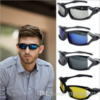 PC Driving Oval Wholesale - 2014 hot 3105 men's sports with sunglasses mirror lens windproof bike riding sunglasses