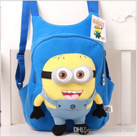 Wholesale fashion cute despicable me school bag kids backpacks toddler baby boys girls backpack children pp plush minions toy good quality