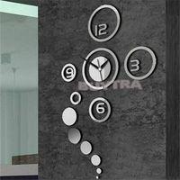 Wholesale 2014 New Modern DIY Home Decoration Clock Creative Living Room Wall Clock