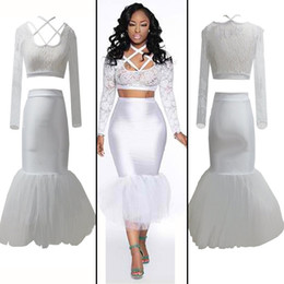Wholesale New Sexy Dresses Club Wear Stage Wear Lace Gauze Skirt White S M L