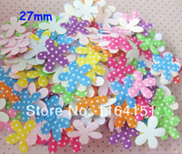 Wholesale 500PS mini mixed color felt flower patch applique kids accessories clothing children decoration Craft Scrapbooking Sewing