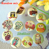 best sewing patterns - 150pcs mixed mm best quality bulk cute Multicolor Owl Pattern wooden buttons clothing sewing accessory crafts scrapbooking