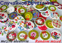 Wholesale Hot new Christmas buttons mm mixed holes star painted natural wood buttons cute handmade craft kids scrapbook
