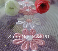 sewing accessories - 2 Colors Flower Heart Can be Chosen Daisy Flower Venice Lace Applique Sewing Trims kids accessories scrapbooking