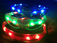 christmas ball glass - LED Spiderman Glasses Flashing Glasses Light Party Glow Mask Christmas Halloween Night Light for Dancing Birthday costume ball Kids gift