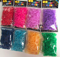 Cheap Transparent glow loom bands luminous Rubber Bands glow in the dark for loom kit (600 loom bands+24 S clips+hook)