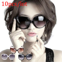Cheap 10pcs lot New Women's Retro Vintage Shades Fashion Oversized Designer Sunglasses SV002740