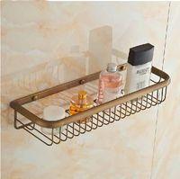 antique wall shelf - New Antique Brass Bathroom Shelf Wall Mounted Brass Corner Shelf Storage Holder