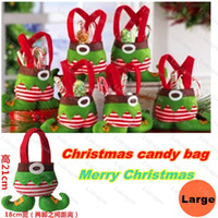 christmas elf - 2014 New Christmas Gifts Decoration Elf Candy Bag Christmas Wedding Candy Bags Lovely Gifts For Children