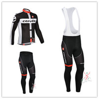 Wholesale HOT Cervelo Team winter Fleece cycling jersey long sleeve Cycling clothing bib Pants Set winter thermal fleece cycling clothing
