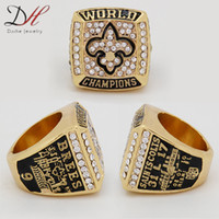 Wholesale fashion sport Ring Super Bowl Orleans Championship Ring for men big ring Size
