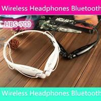 Wholesale 100pcs HBS Sport Neckband Headset In ear Wireless Headphones Bluetooth Stereo Earphones Earphone Headsets For iphone5 S S4 iphone