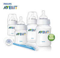 Wholesale 100 Brand Original AVENT Baby Feeding Milk Nursing Bottle Mamadeira oz oz newborn Starter Set