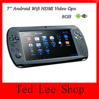 Wholesale HOT NEW Inch Handheld Game Player GB Android Capacitive Tablet PC Portable Game Console Multimedia Player Wifi GPS Camera