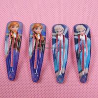 Wholesale Frozen Elsa Baby Hair Accessories Children Hair Accessories Kids Clip Fashion Barrettes Girl Hair Clips Childrens Accessories Hair Slides