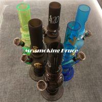 Wholesale 1 pc Acrylic bongs smoking pipe shisha hookah grinder rolling machine paper snuff bottle pill box