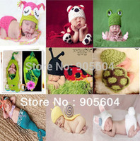 Cheap Baby Infant Handmade Animal Crochet Hat Costume Photo Photography Prop