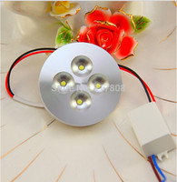 Wholesale 12W w LED Puck Light V kitchen counter cabinets cupboard embeded or surface mounted accent lighting