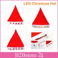Hot LED Christmas Hat with Good Quality Light- emitting Chris...