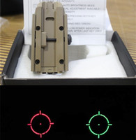 gun parts - Retail Sight Red Green Holographic sights Rifle Tactical Scope for gun mm Rail part for hunting Kahaki