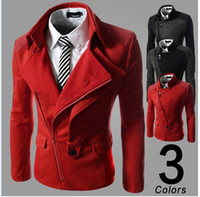 Cheap Mens Wool Trench Coat Autumn and Winter Jackets Europe Stylish Overcoat Outerwear Slim Pea Coat