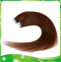 Wholesale g quot quot quot quot light brown Glue Skin Weft Tape in Human Hair Extensions INDIAN REMY HAIR