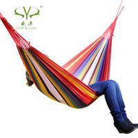 Cheap Freeshipping Hammock Outdoor Camping Swing Thickening canvas Large Double Hammock Casual Bearing