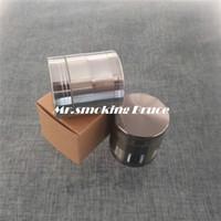 Wholesale 4 parts mm zinc alloy metal herb grinder Tobacco Spice Crusher rolling machine paper snuff snorter bottle vaporizer smoking pipe