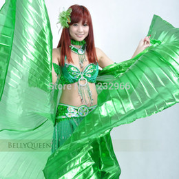 Wholesale Cheap belly wingsBelly Dance Wing with Sticks Many Colors degree Belly Dance Wings High Quality BellyDance Wing