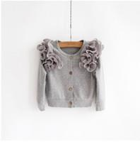 Cheap 2014 New Style Baby Girls Korean Style Polka Dot Round Neck Cotton Jacket Childrens Autumn Coat