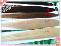 Cheap 100g pc 20''-28'' #1#2#6#613#60 Brazilian REMY human keratin flat tip hair extensions in stock 3pcs lot mixed length available