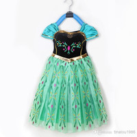 Wholesale Frozen Movie princess elsa anna costume halloween sexy cosplay birthday gift party Christmas dresses for kids gothic dress