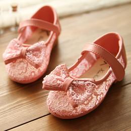 Wholesale new crochet lace gauze sandals for girls sweet princess single shoes kids sandals Eur