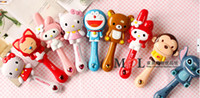 baby hairbrush - 2014 New Tangle Hair Brush Massage Hair Comb Brushes Care For Baby Kids Hair Cartoon Comb Baby Hairbrush Mix colors