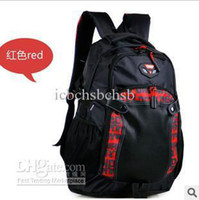 Wholesale Fashion Cheap Sports Backpack Travel Used Nylon Big Shoulder Bags Korea Style Grey Red Black Colors PC A16