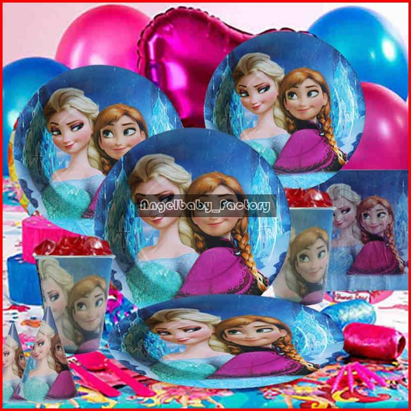 Movie Birthday Party Decorations Set Snow Queen Elsa Anna Theme Party ...
