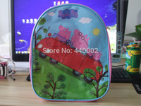 Backpacks Nylon Men Peppa pig 10pcs 31*26cm new style Peppa pig cute children bags students preschool backpack lovely bag school bag pink color