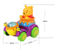 mini electric car toy - Electric musical bear Toys Car Children lighting Car Baby Mini Cars Cartoon Intelligence children s educational toys cart