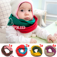 Wholesale Baby Girl Crochet neck warmer hat Winter Love Warm scraf Cap Hood winter neckwarmers Beanie Bomber Flight