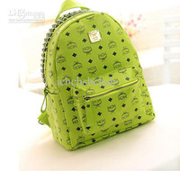 Wholesale MCM Backpack Bag Punk Rivets PU Leather New Arrival Cheap