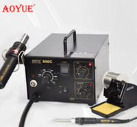 Cheap DHL free shipping Aoyue906 2 in 1 desoldering station,hot air soldering station.with air pump hot air gun sodering iron,2 in 1