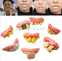 Wholesale Min order is New Hot Selling Fake Joke Teeth False Teeth Rotten Teeth Party Fancy Halloween Joker