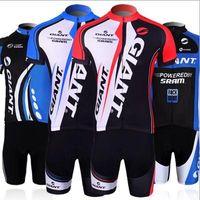 bicycle riding jerseys - outdoor sport giant cycling clothing jersey bicycle bike riding short sleeve jerseys bib shorts