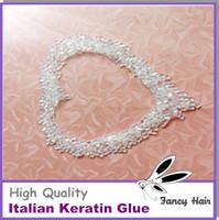Wholesale 50gram Transparent Italian keratin glue bead grain for keratin hair keratin glue for hair extension