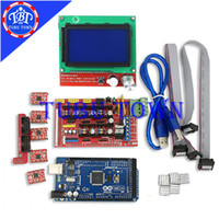 Cheap Mega 2560 R3 Microcontroller + ramps 1.4 controller + 12864 LCD Panel + A4988 stepper driver For 3D printing printer Kit