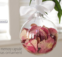 Wholesale Dia60mm Clear glass christmas balls Transparent Glass Ornaments wedding decorative balls freeship