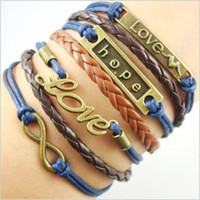 Charm Bracelets best combinations - Infinity Bracelets Valentine s Day gift infinite combination of manual preparation love hope bracelet bracelet Best Chosen Gift
